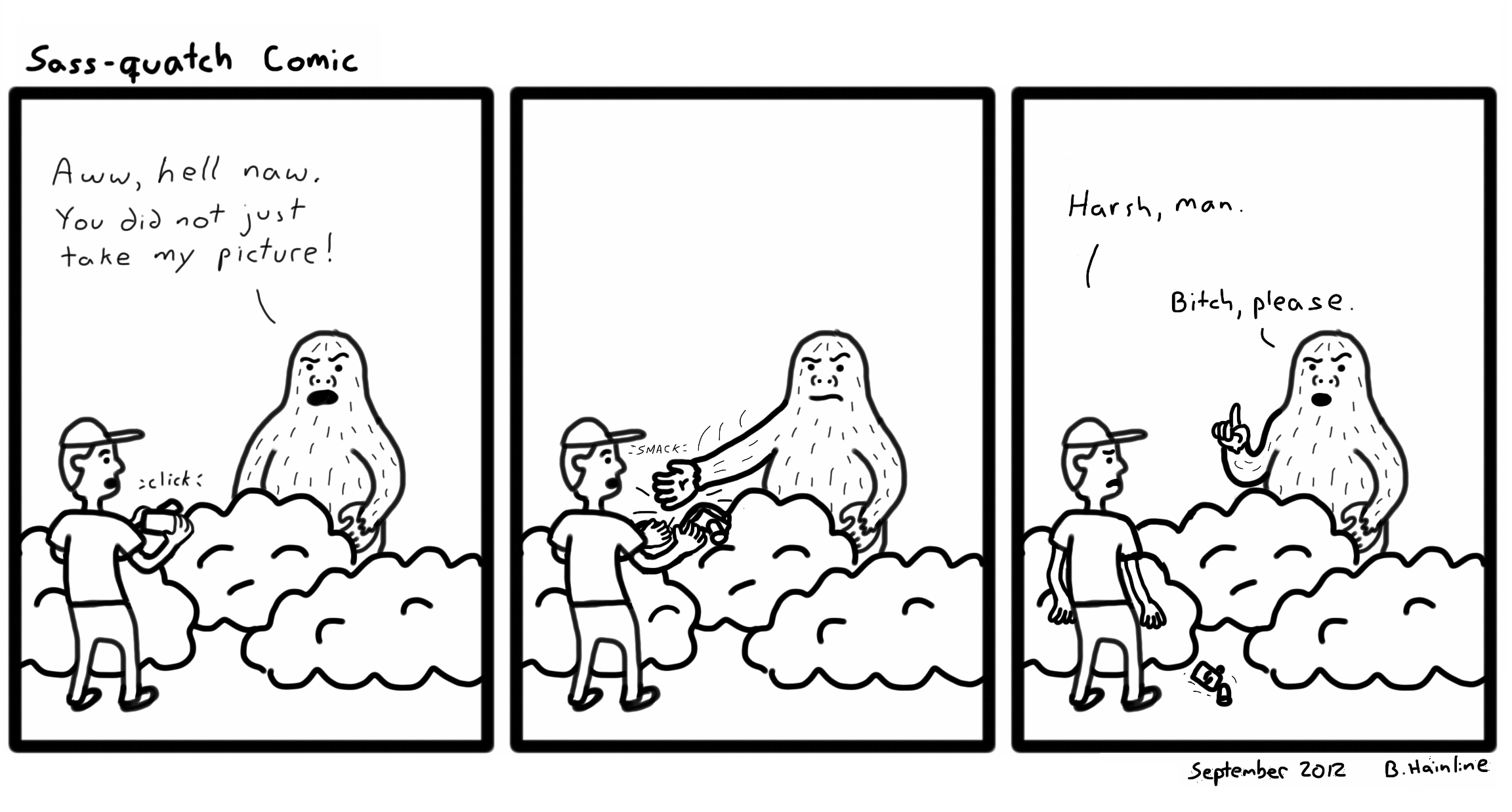 Sass-quatch Comic